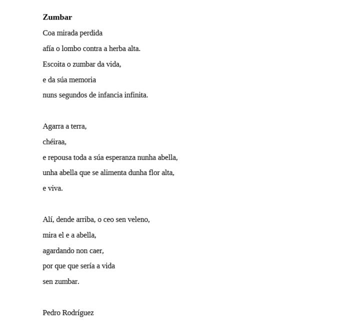 Zumbar, Pedro Rodríguez